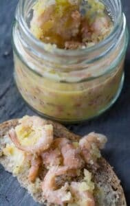potted shrimp appetiser